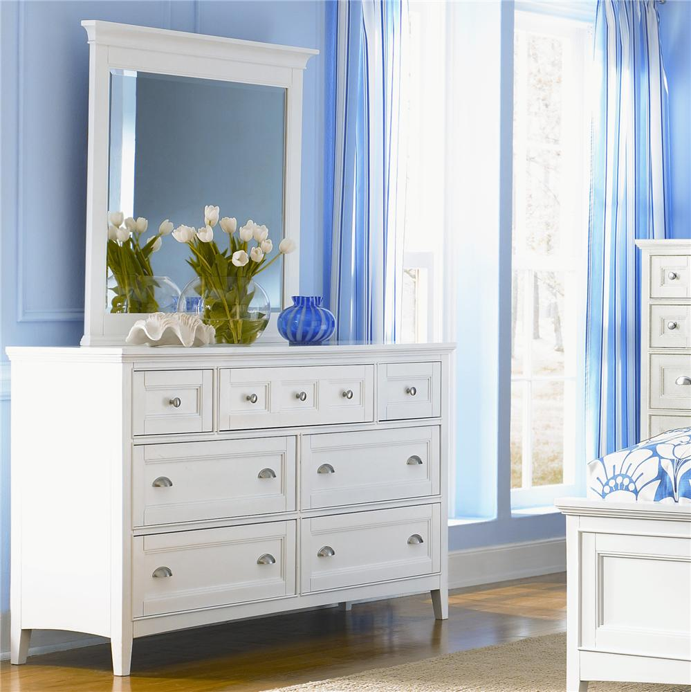 Magnussen Home Kentwood Double Dresser and Landscape Mirror - Item Number: B1475-22+40