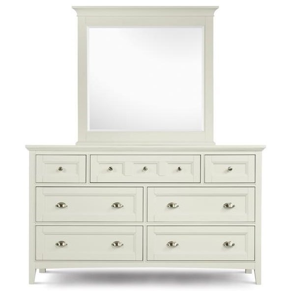 Magnussen Home Kentwood Double Dresser and Landscape Mirror - Item Number: B1475-22+40