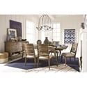 Magnussen Home Bluff Heights Casual Dining Room Group - Item Number: D4597 Dining Room Group 1