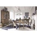 Magnussen Home Bluff Heights Formal Dining Room Group - Item Number: D4597 Dining Room Group 4