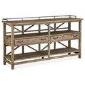 Magnussen Home Bluff Heights Rustic Sideboard with Dovetail Joinery