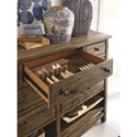 Magnussen Home Bluff Heights Rustic Server with Dovetail Joinery