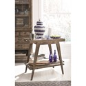Magnussen Home Bluff Heights Rustic Dining Bar Cart with Decorative Tiles