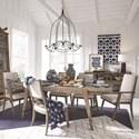 Magnussen Home Bluff Heights 7 Piece Dining Set - Item Number: D4597-20+4x64+2x73