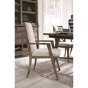 Magnussen Home Bluff Heights Rustic Dining Arm Chair with Full Upholstery