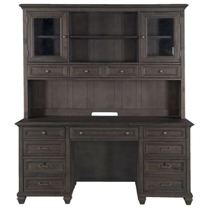 Rustic Credenza Hutch with Power Supply