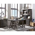 Magnussen Home Sutton Place Rustic Credenza Hutch with Power Supply