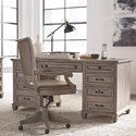 Magnussen Home Lancaster Rustic Credenza with Locking File Drawers