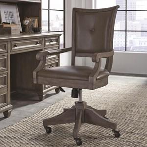 Magnussen Home Lancaster Upholstered Swivel Chair
