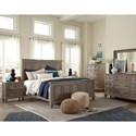 Magnussen Home Lancaster Rustic California King Panel Bed - Bed shown may not represent bed indicated