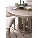 Magnussen Home Granada Hills Contemporary Rustic Round Dining Table