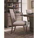 Magnussen Home Granada Hills Contemporary Rustic Dining Side Chair with Upholstered Seat