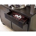 Magnussen Home MacArthur Terrace  Contemporary Rustic Server with Hutch and Silverware Tray