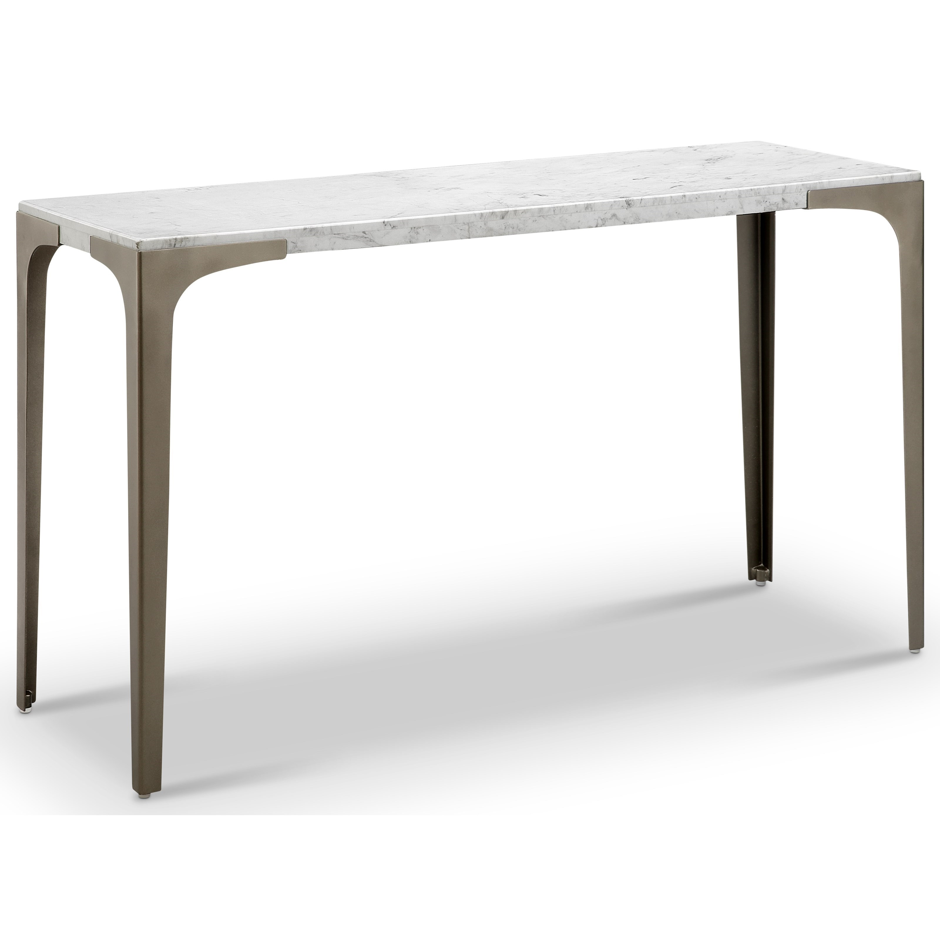 Magnussen Home Mercer Contemporary Sofa Table With Marble Top