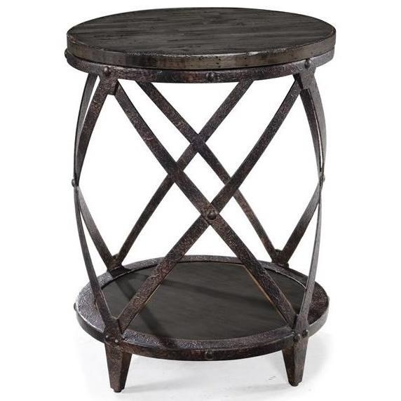 Bassett Furniture Milford Ct: Magnussen Home Milford Round Accent Table With Shelf