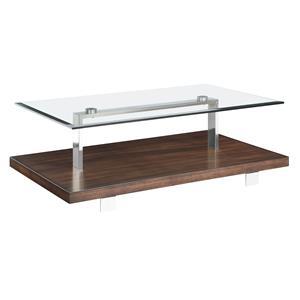 Magnussen Home Modern Loft Rectangular Cocktail Table
