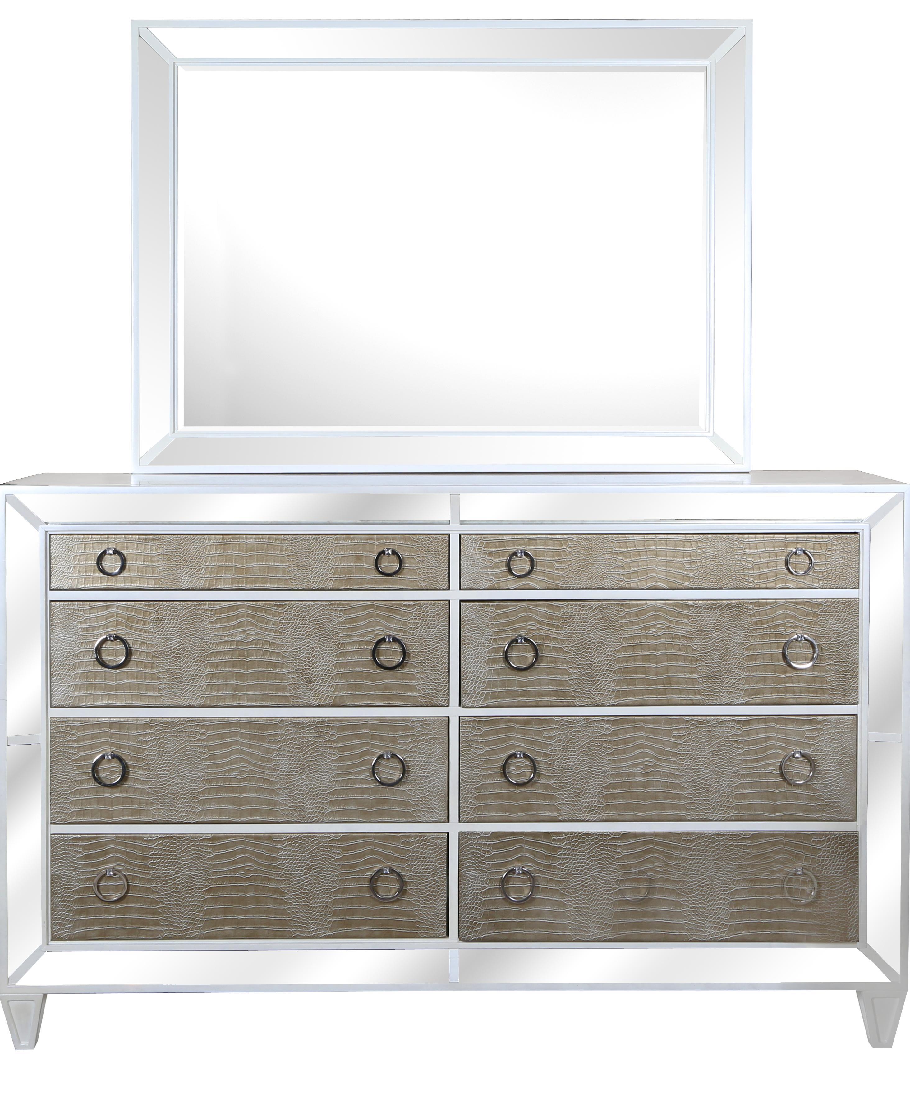 Magnussen Home Monroe Dresser and Mirror - Item Number: B2935-40+20