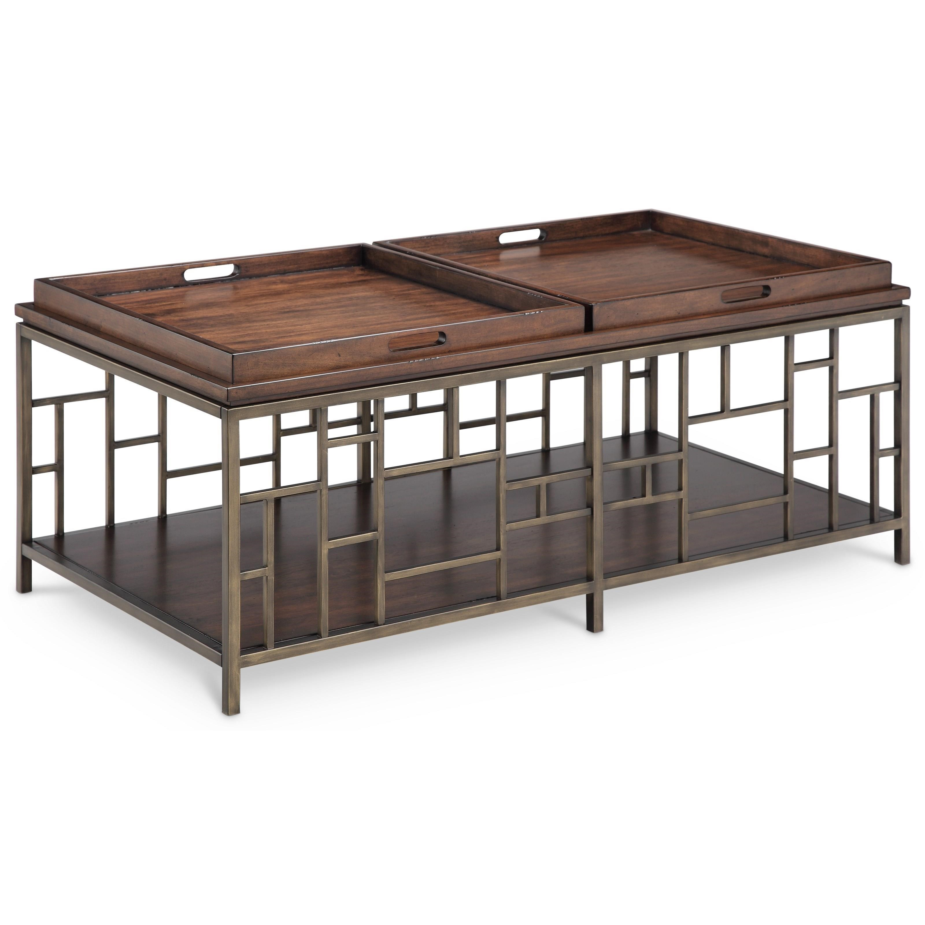 Magnussen Home Murdock Geometric Cocktail Table