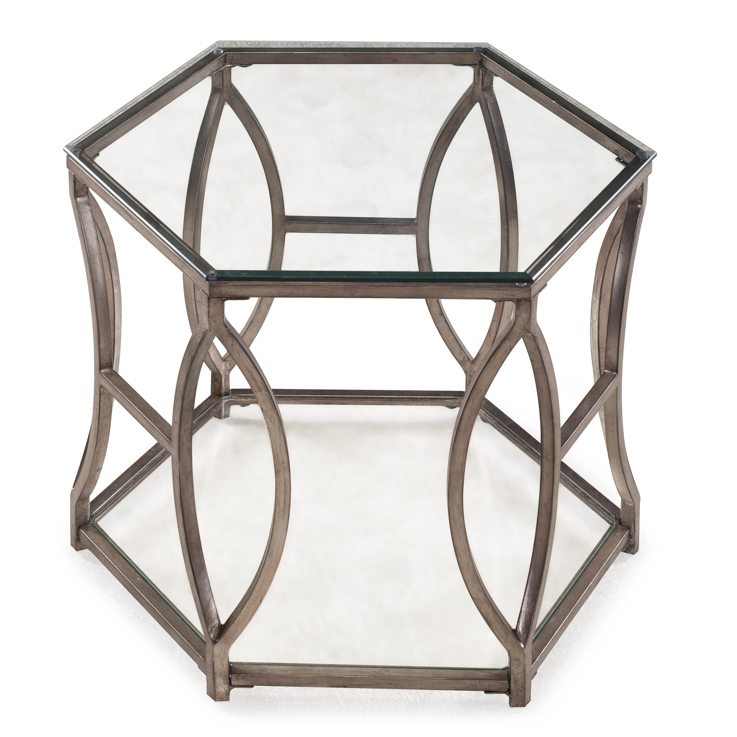 Belfort Select Nevelson Hexagonal End Table - Item Number: T2060-08B+08T