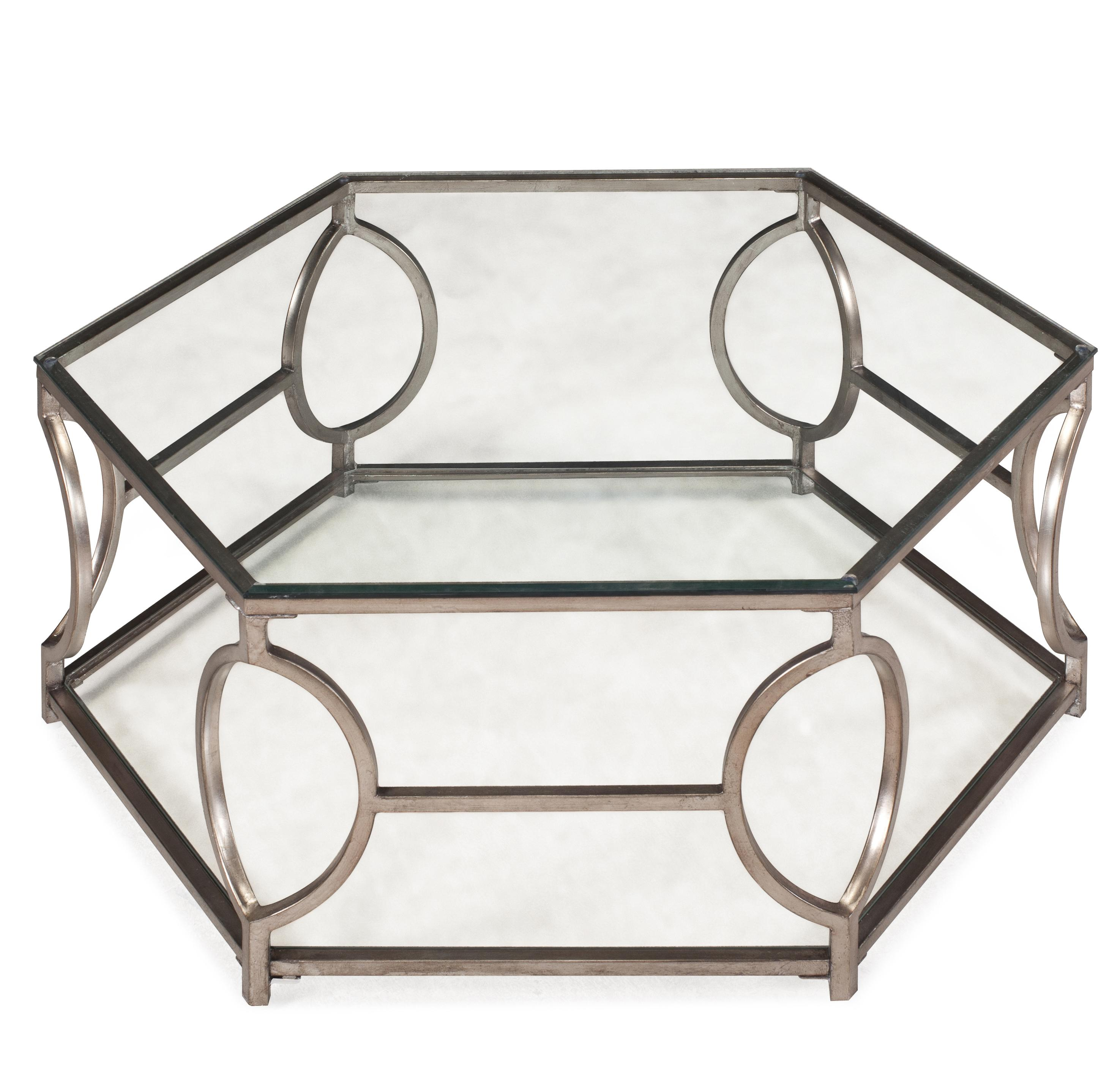 Magnussen Home Nevelson Hexagonal Cocktail Table - Item Number: T2060-48B+48T