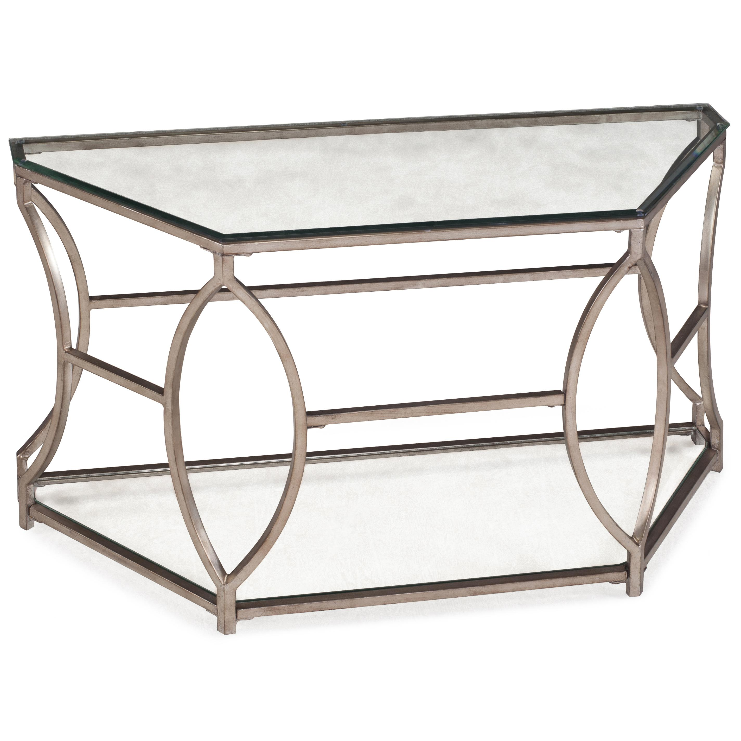 Magnussen Home Nevelson Demilune Sofa Table - Item Number: T2060-75B+75T