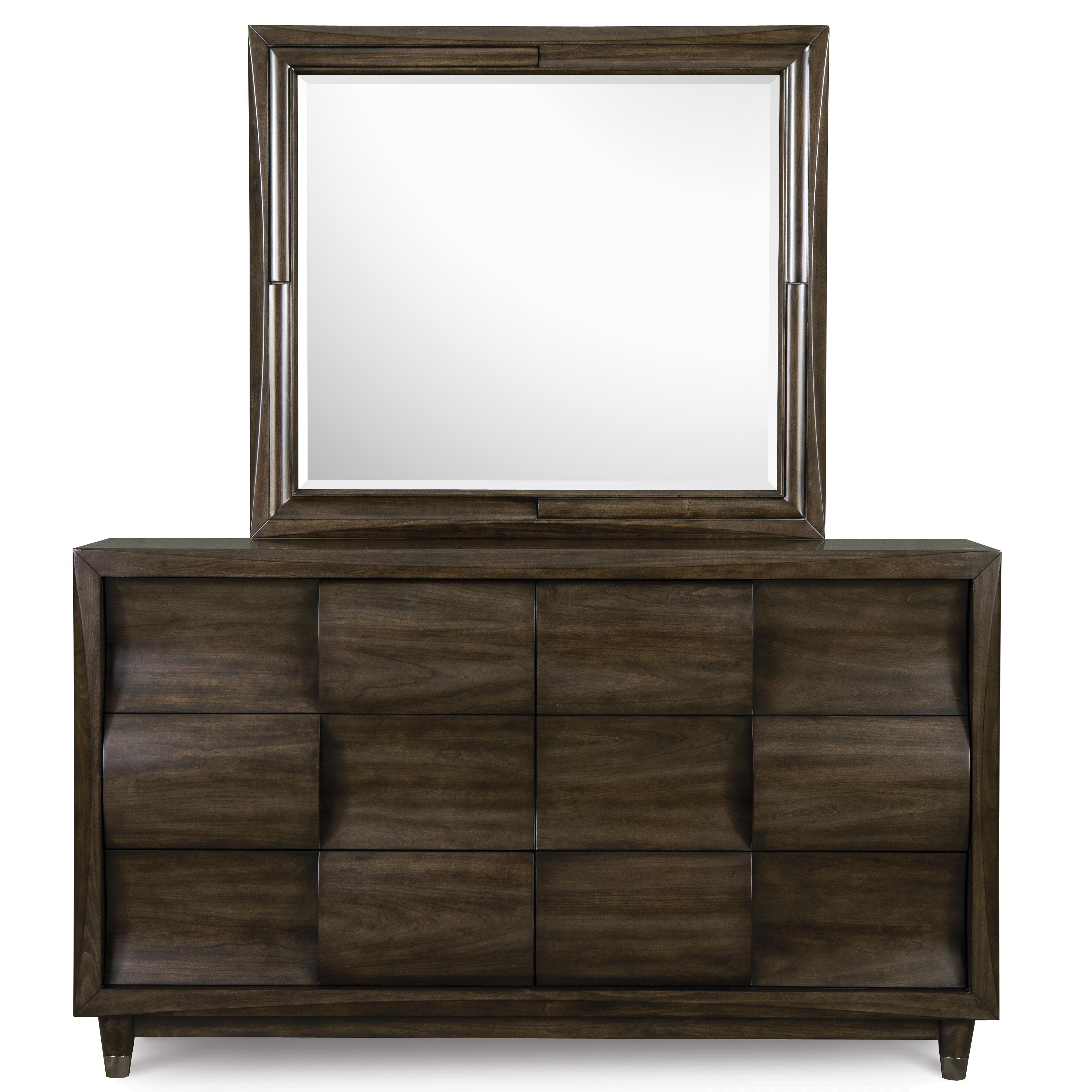 Magnussen Home Noma Dresser with Mirror - Item Number: B2640-20+40