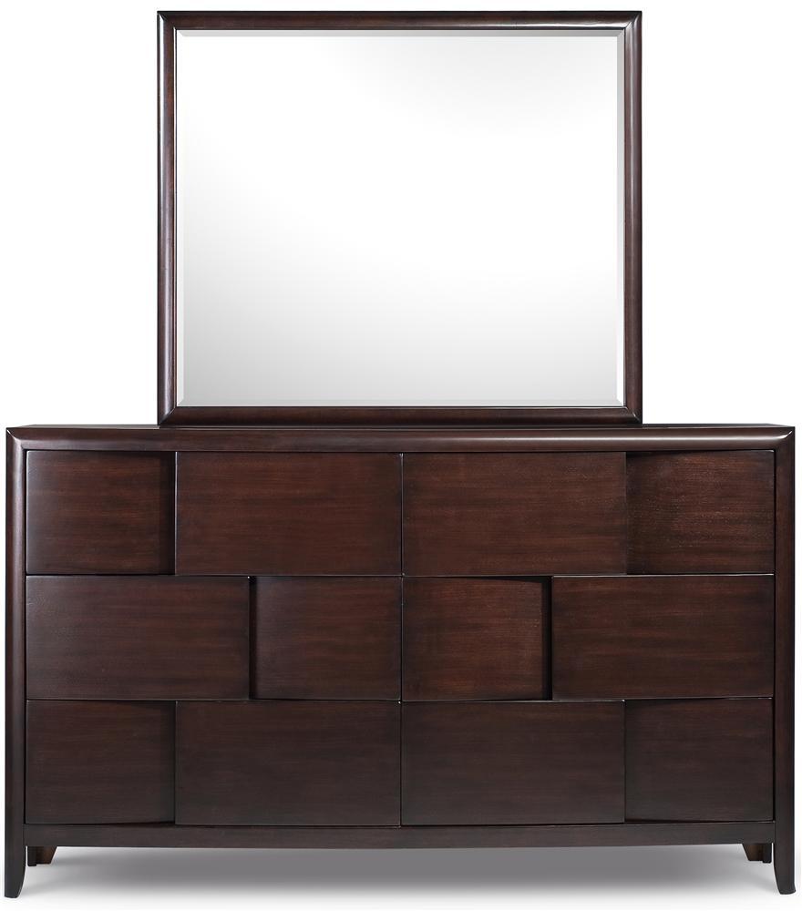 Magnussen Home Nova Dresser With 6 Drawers and Beveled Landscape ...