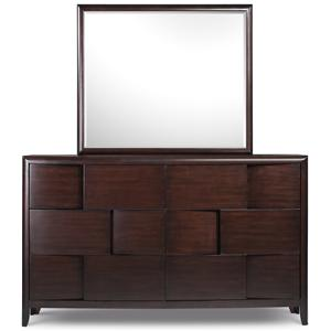 Magnussen Home Nova Dresser and Landscape Mirror