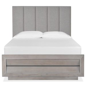Cali King Upholstered Bed with Wood/Metal FB
