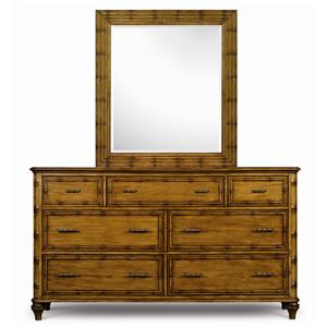 Magnussen Home Palm Bay Drawer Dresser & Landscape Mirror