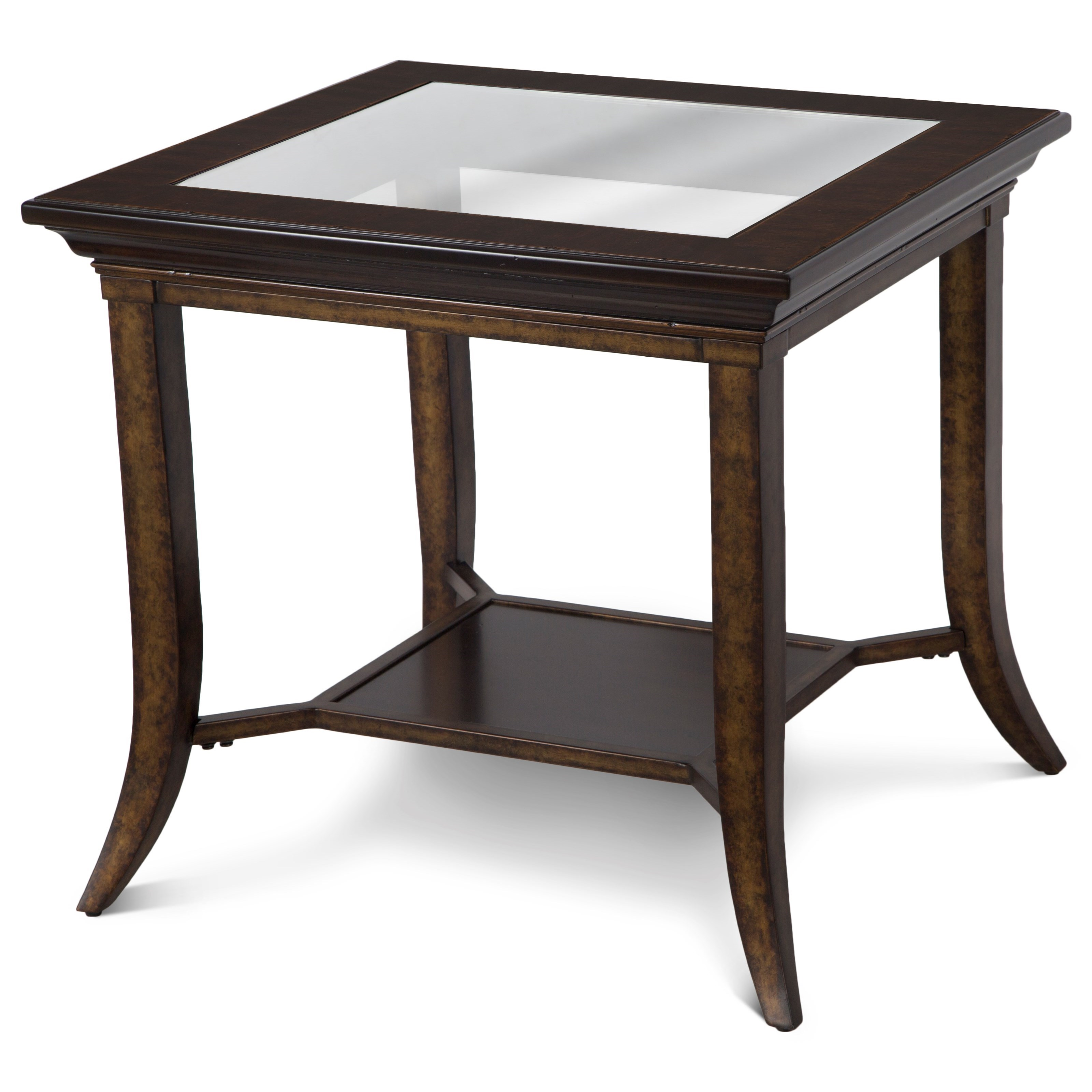 home accent tables magnussen home parsons rectangular end table with glass 1651