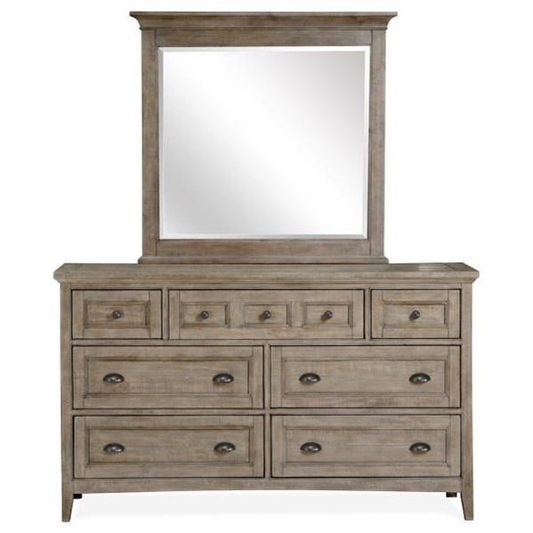 Drawer Dresser Mirror Set
