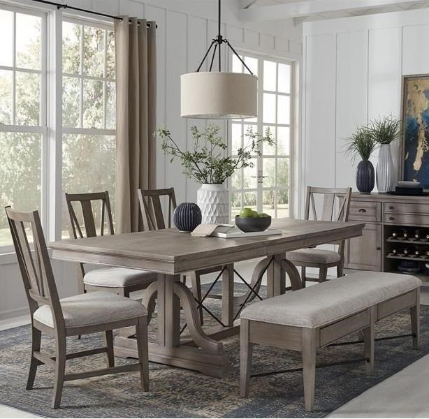 Paxton Place 6-Piece Dining Set w/ Bench by Magnussen Home at Stoney Creek Furniture