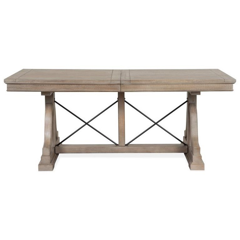 Paxton Place Trestle Dining Table by Magnussen Home at Stoney Creek Furniture