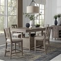 Magnussen Home Paxton Place 5-Piece Counter Height Dining Set - Item Number: D4805-42+4X82