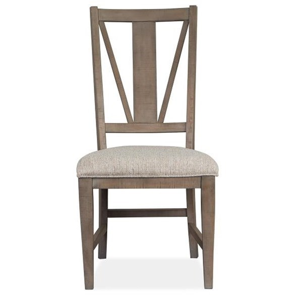 Paxton Place Dining Side Chair w/ Upholstered Seat  by Magnussen Home at Stoney Creek Furniture