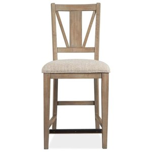Counter Chair w/ Upholstered Seat