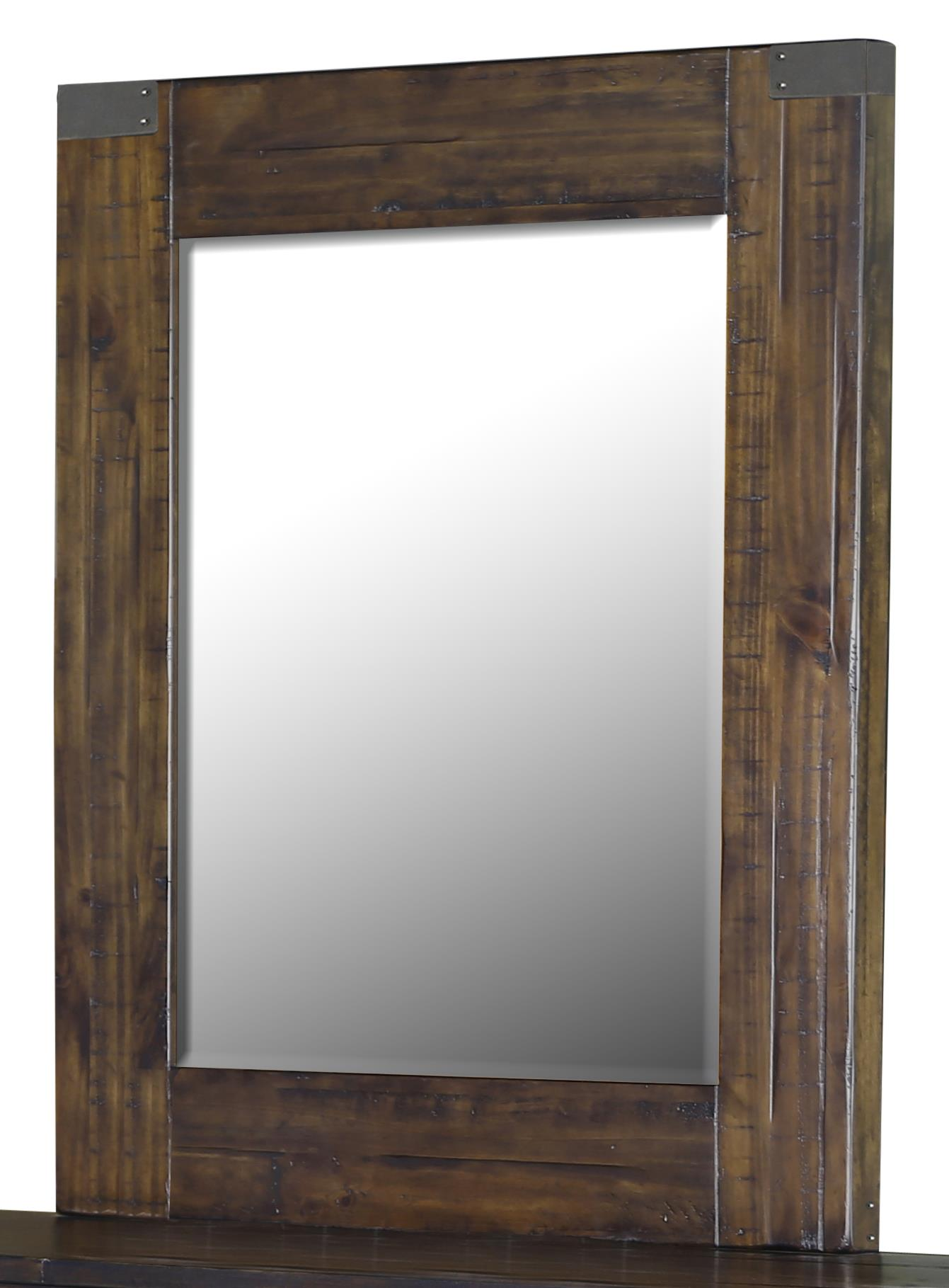 Magnussen Home Pine Hill Portrait Mirror - Item Number: B3561-42