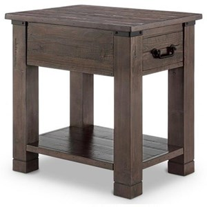 Magnussen Home Pine Hill Rectangular End Table