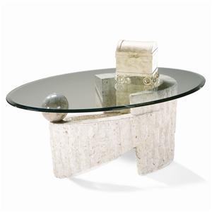 Magnussen Home Ponte Vedra Oval Cocktail Table