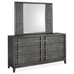 Magnussen Home Proximity Heights Bedroom Dresser and Mirror Set