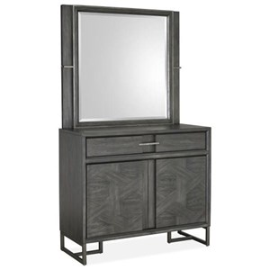 Magnussen Home Proximity Heights Bedroom Media Chest and Mirror Set
