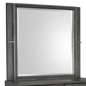 Magnussen Home Proximity Heights Bedroom Mirror with Metal Frame