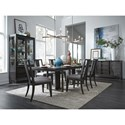 Magnussen Home Proximity Heights Formal Dining Room Group - Item Number: D4450 Dining Group 6