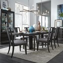 Magnussen Home Proximity Heights Table and Chair Set - Item Number: D4450-32+6xD4450-62