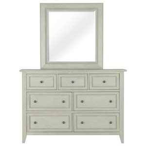 Magnussen Home Raelynn 7 Drawer Dresser and Mirror