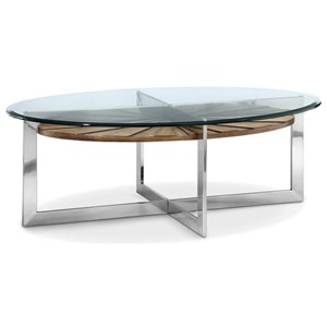 Magnussen Home Rialto Oval Cocktail Table