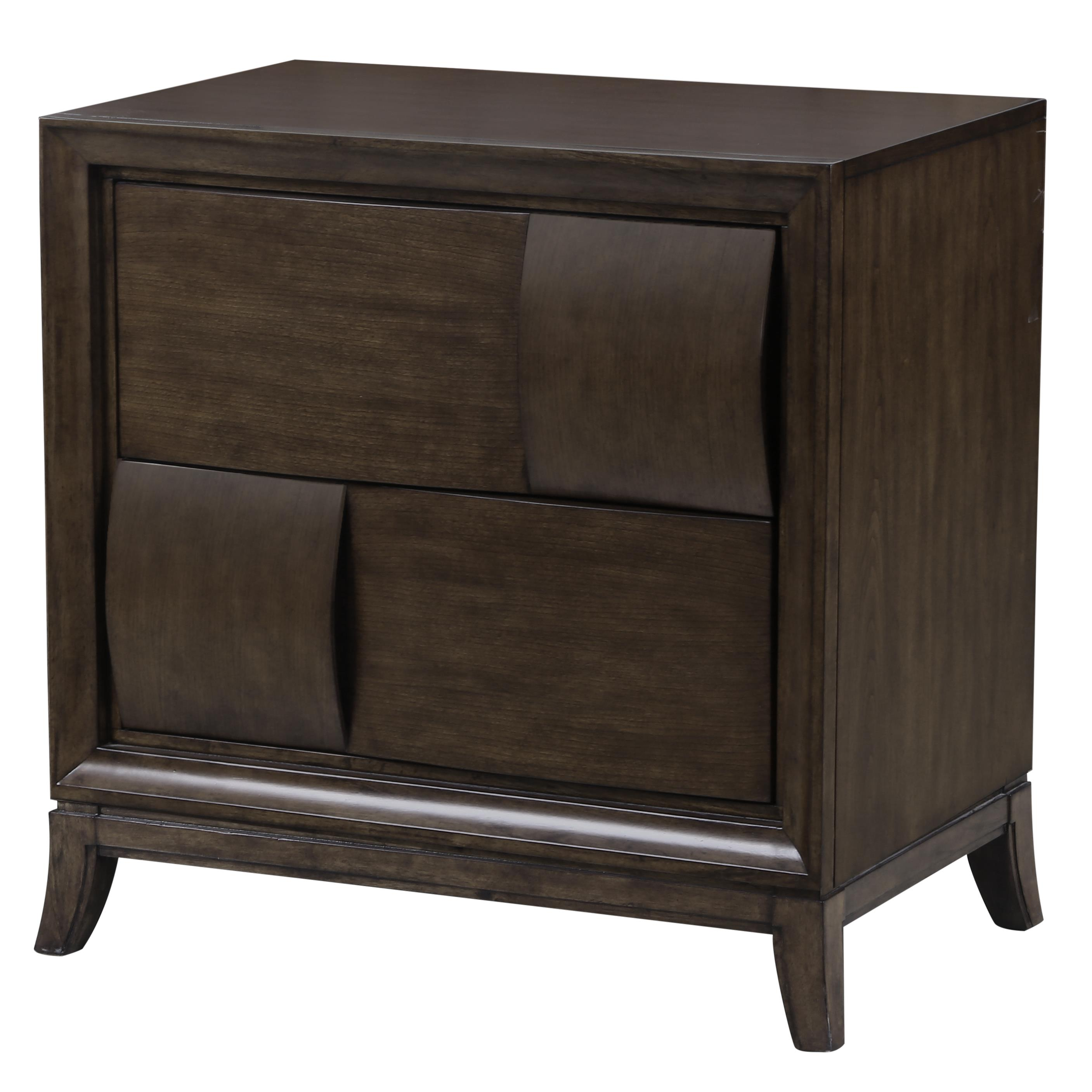 Magnussen Home Ribbons Two Drawer Nightstand with Touch Lighting Control Olinde s Furniture