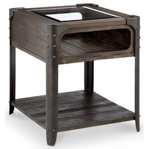 Magnussen Home Rydale Rustic End Table
