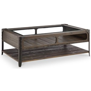 Magnussen Home Rydale Rustic Cocktail Table